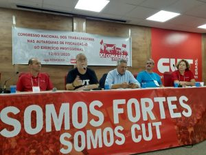 Da esq. p/ dir., Paulo Fernandes, Roberto Miguel, Alexandre Padilha, Walter Alves Junior e Inês Granada Pedro